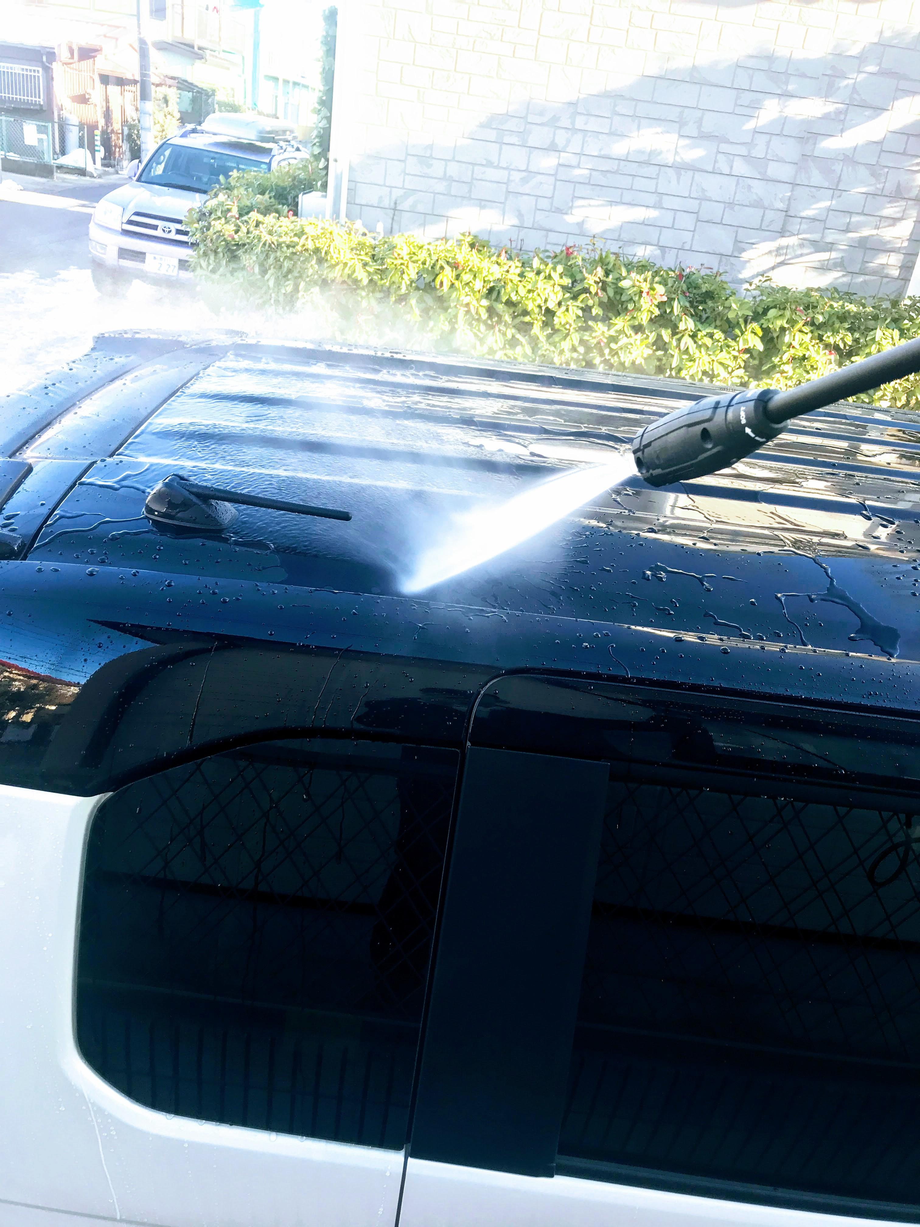 N-BOX納車後初の洗車!雪の汚れが落ちてスッキリ♪