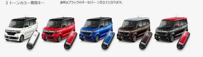 新型N-BOX2トーンカラーはスマートキーも2トーンカラー^^