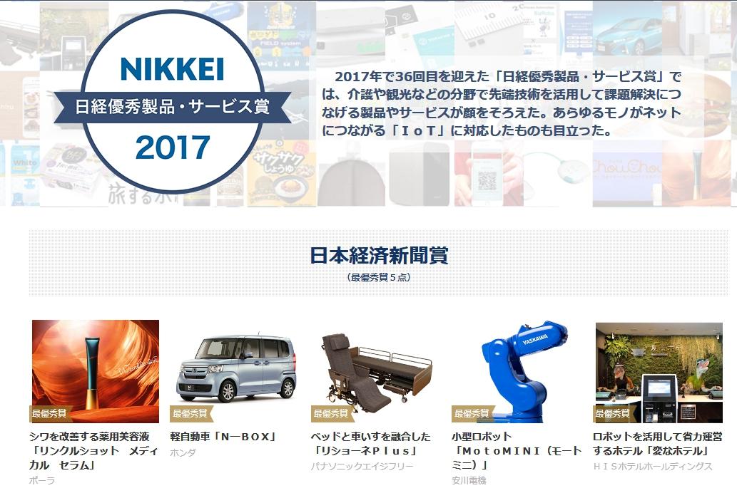 N-BOXが日経新聞2017年の「日経優秀製品・サービス賞」最優秀賞を受賞!