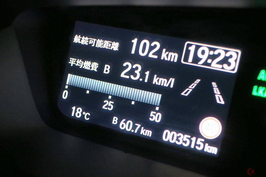 新型N-BOXベーシックモデルのNAエンジン車の市街地、高速、峠道「ターンパイク」での実燃費