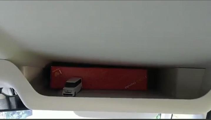 新型N-BOX大型ルーフコンソールを装着された方に貴重な動画を共有してもらいました^^