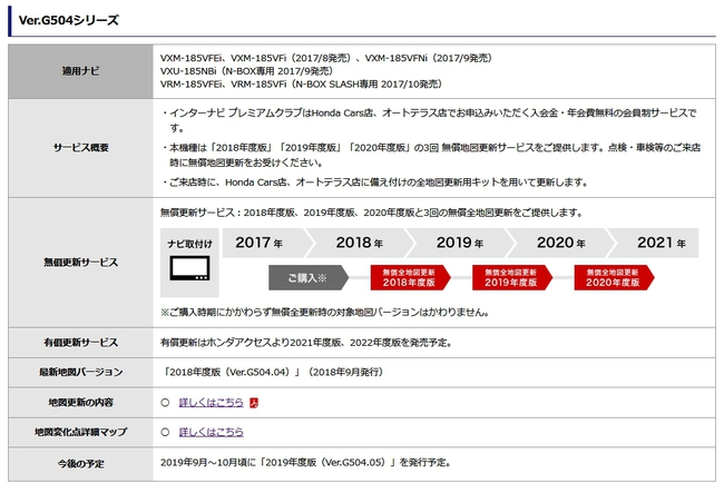 N-BOX純正ナビ「VXU-185NBi」「VXM-185VFi」の方は無料ナビ更新(最新地図データ)の時期ですよ^^