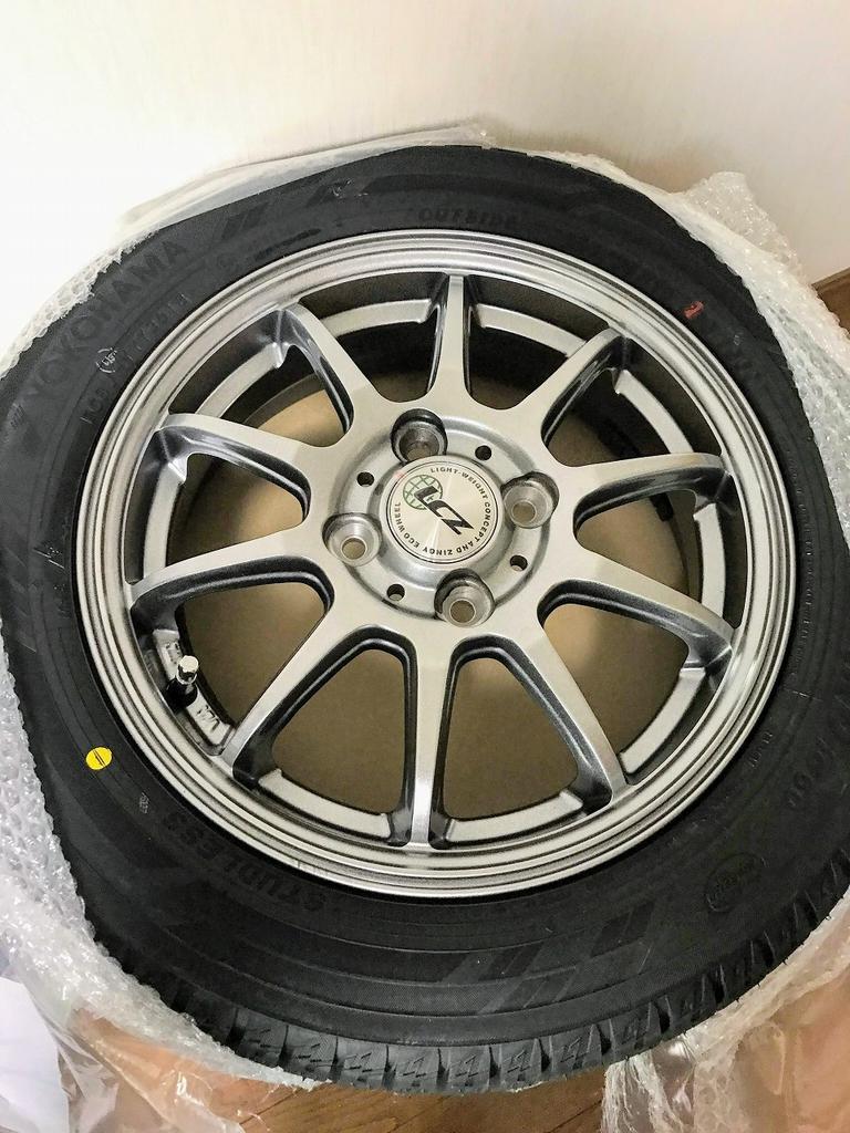 購入した新型N-BOXカスタムのスタッドレスホイール&タイヤが届きました♪製造年月や重量は?
