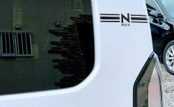 N-BOXカスタムのCピラーにワンポインデカール(ステッカー)貼りました♪
