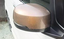 N-BOX特別仕様車のカッパーブラウンのドアミラーカバーをN-BOXカスタムに装着されている方がいてオシャレですね^^