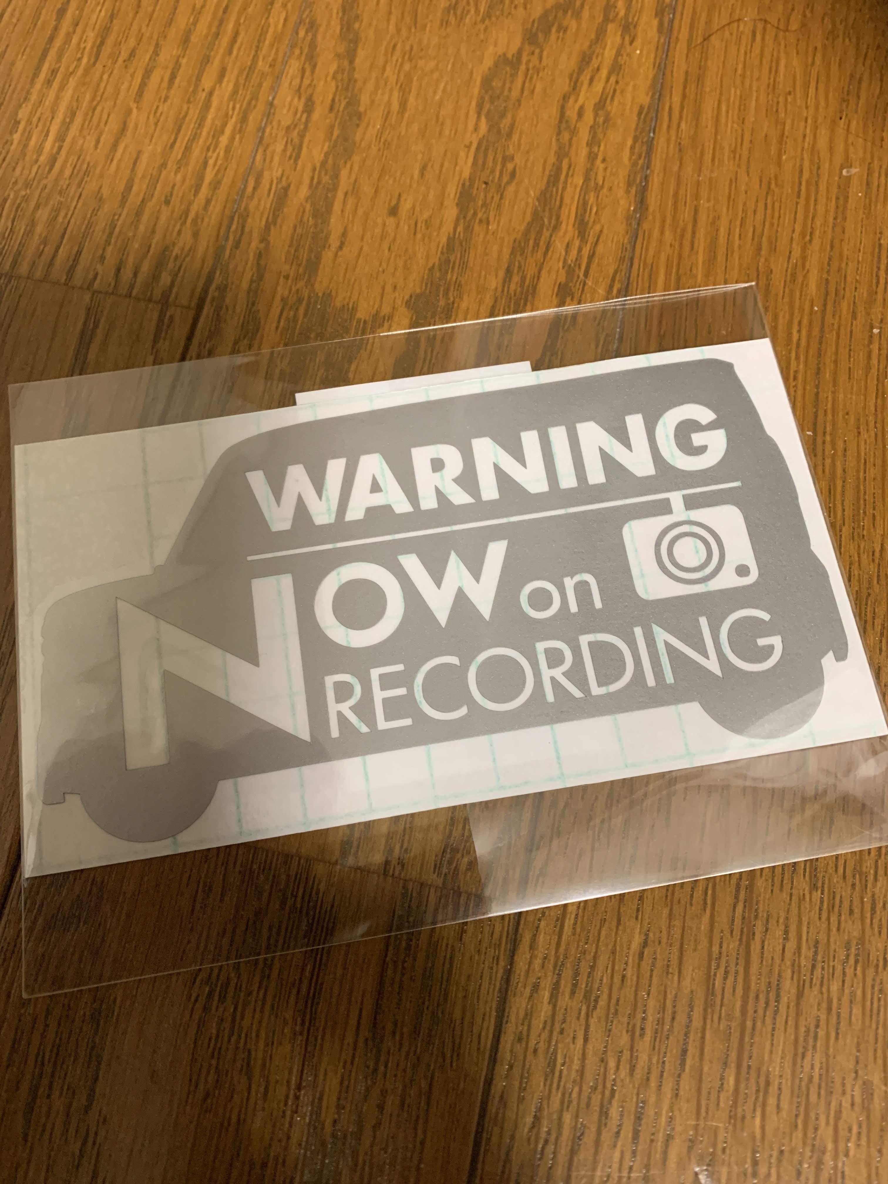新型N-BOX(JF3)デザインのドライブレコーダー用録画中警告ステッカーを買ってみました^^
