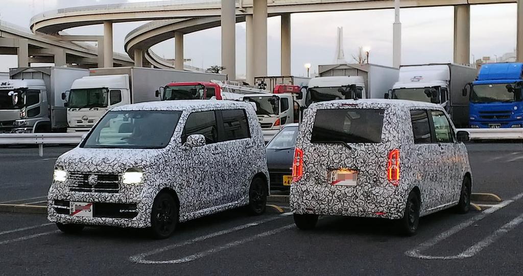 次期N-WGNのカモフラージュされたテスト車両が目撃されました!ボディ形状やデザインは?