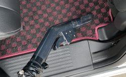N-BOXのシートやフロアマットなどの車内の掃除は洗車所備え付けの掃除機で綺麗にしてます♪