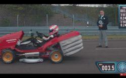 ホンダがバイク「CBR1000RR」のエンジンを積んだ改造芝刈り機で世界最速ギネス記録を達成!!達成時の動画もあり^^