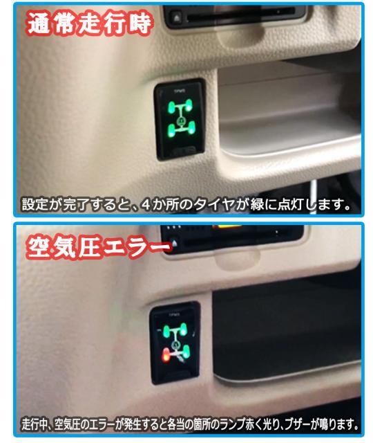 ハーネスカプラーオンで取り付けできるホンダセンシング対応N-BOXカスタム専用(JF3,JF4) タイヤ空気圧監視警報システム(TPMS)!
