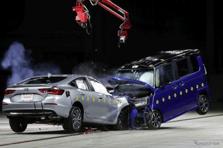 ホンダが軽自動車「N-BOX」とホンダ「インサイト」の衝突実験動画を公開!動画あり