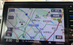 N-BOXのホンダ純正インターナビの道路に沿って緑色の点線が点滅表示!?これって何?消し方は?