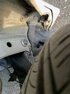 N-BOXのリアホイールハウスの内側の石が溜まる問題・・・久しぶりにチェックしたら結構溜まってました><