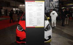 新型フィット「無限 FIT Prototype」発表!1台で赤「Dash」白「Skip」2台分の無限パーツを装着してお披露目^^