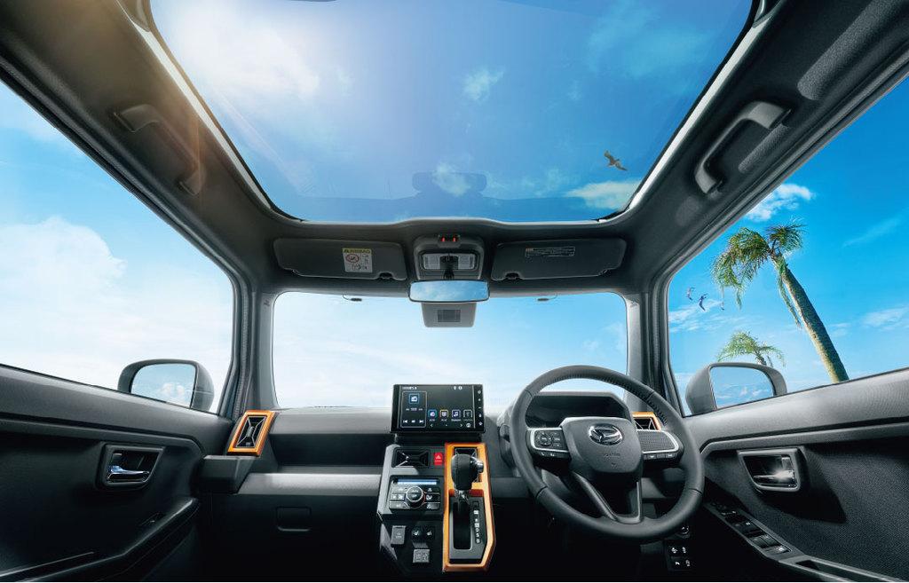 6月発売予定の新型車ダイハツ・タフト!ガラスルーフが全車標準装備は羨ましい^^