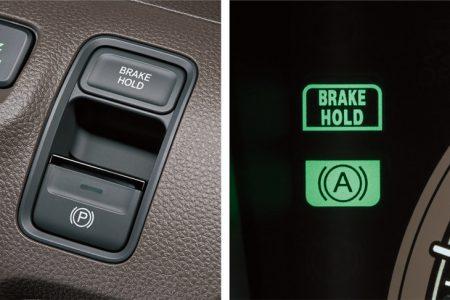 ☑N-BOXのビッグマイナーチェンジで電動パーキングブレーキ(EPB)は搭載されず。
