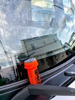 N-BOXカスタムにガラスコーティング剤glaco(ガラコ)を施工しました^^作業レポート!