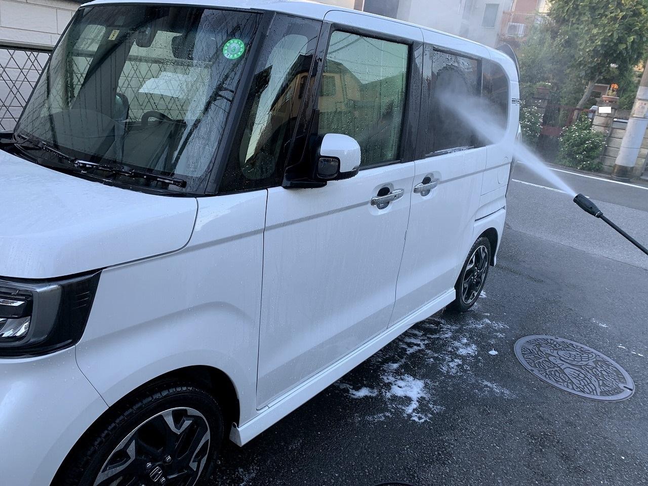 週末はN-BOXカスタム号の給油&ケルヒャー洗車しました^^ガソリン価格は安定してますね。