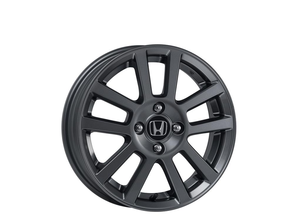 ブラストグレーメタリック塗装の新作Honda純正アルミホイール発売!リーズナブルでスタッドレスタイヤに良さげ^^