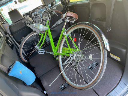 愛車N-BOXカスタムに27インチ自転車を載せて運びました(^^)