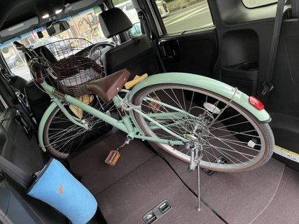 今日はN-BOXカスタムに26インチ自転車を載せました(*^^*)