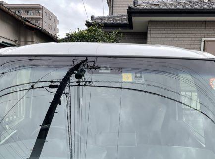 N-BOXカスタムターボの車検証とステッカー(検査標章)が届いたので早速貼り付けました(^^)貼り付け位置に注意が必要です。