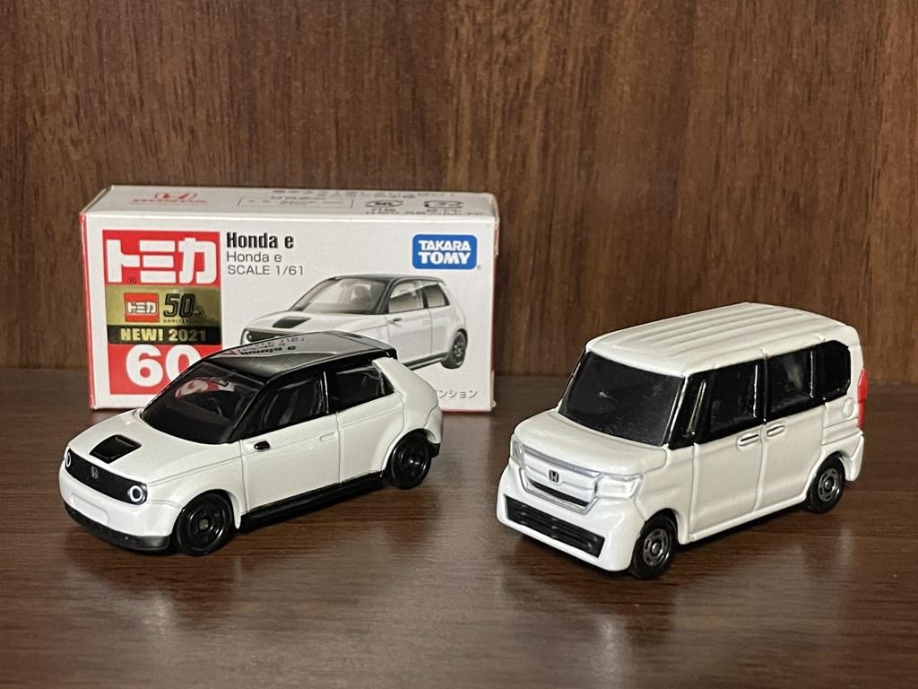 「Honda e」のトミカが届いたので開封レポート!「N-BOX」と並べてみました(*^^*)